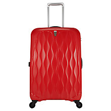 Buy Antler Liquis Embossed Spinner 4-Wheel Medium Suitcase, Red Online at johnlewis.com