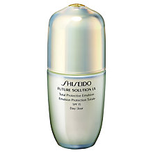 Buy Shiseido Future Solution LX Protective Emulsion SPF15, 75ml Online at johnlewis.com