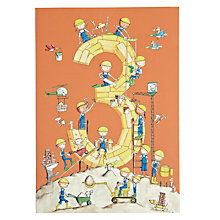 Buy Woodmansterne Boys Building 3rd Birthday Card Online at johnlewis.com