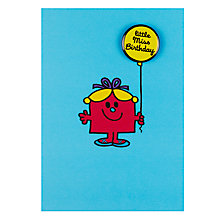 Buy Hype Little Miss Birthday Badge Birthday Card Online at johnlewis.com