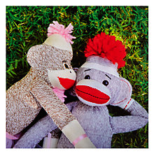 Buy Card Mix Sock Monkey Couple Greeting Card Online at johnlewis.com