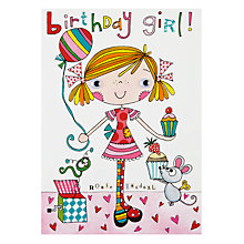 Buy Rachel Ellen Wibbly Wobbly Birthday Card Online at johnlewis.com