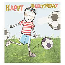 Buy Caroline Gardner Football Birthday Card Online at johnlewis.com