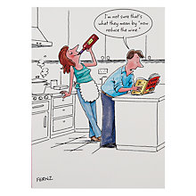 Buy Paperhouse Reduce the Wine Birthday Card Online at johnlewis.com