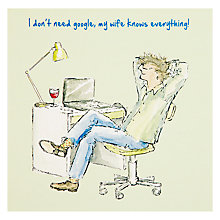Buy Art Beat I Don't Need Google Greeting Card Online at johnlewis.com