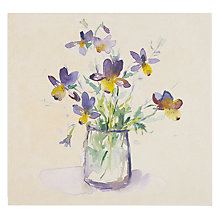 Buy Art Beat Wild Pansy Greeting Card Online at johnlewis.com