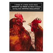 Buy Pigment Chicken Cross The Road Birthday Card Online at johnlewis.com