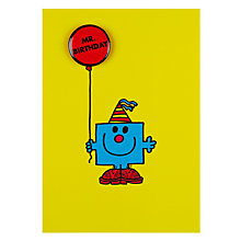 Buy Hype Mr Birthday Badge Birthday Card Online at johnlewis.com
