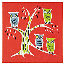 Buy Woodmansterne Four Owls Greeting Card Online at johnlewis.com