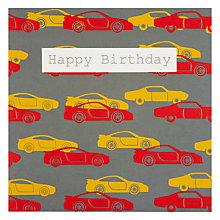 Buy Saffron Retro Cards Birthday Card Online at johnlewis.com