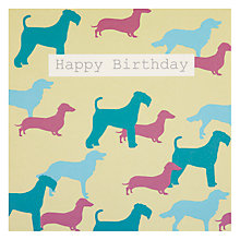 Buy Saffron Dogs Birthday Card Online at johnlewis.com