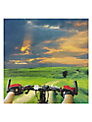 Woodmansterne Cyclist View Greeting Card