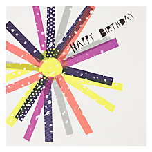 Buy Woodmansterne Sun Stripes Birthday Card Online at johnlewis.com