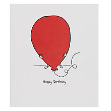 Buy Portfolio Big Red Balloon Greeting Card Online at johnlewis.com