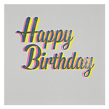 Buy Woodmansterne Birthday Script Birthday Card Online at johnlewis.com