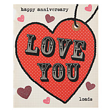 Buy Really Good Heart Anniversary Card Online at johnlewis.com
