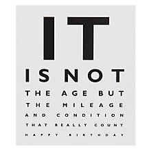 Buy Portfolio It Is Not The Age Birthday Card Online at johnlewis.com