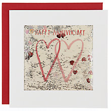 Buy James Ellis Steven Two Hearts Anniversary Card Online at johnlewis.com