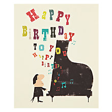 Buy Art File Piano Birthday Card Online at johnlewis.com