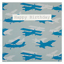 Buy Saffron Planes Birthday Card Online at johnlewis.com