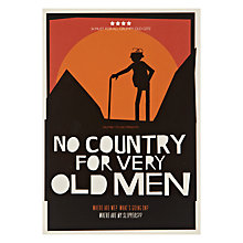 Buy Urban Graphic No Country Old Men Greeting Card Online at johnlewis.com