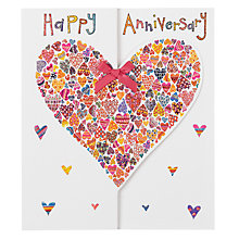 Buy Rachel Ellen Designs Hearts of Hearts Anniversary Card Online at johnlewis.com