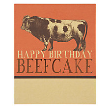 Buy Art File Beefcake Birthday Card Online at johnlewis.com