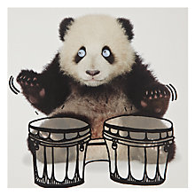 Buy Paper Rose Panda Drums Greeting Card Online at johnlewis.com