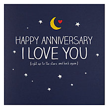 Buy Pigment Stars And Back Anniversary Card Online at johnlewis.com