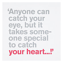 Buy Icon Catch Your Heart Engagement Card Online at johnlewis.com