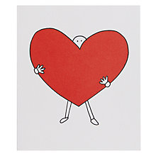 Buy Portfolio Big Heart Greeting Card Online at johnlewis.com