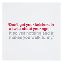 Buy Icon Knickers Birthday Card Online at johnlewis.com