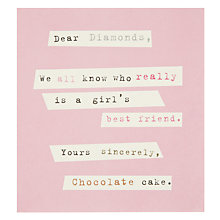 Buy Caroline Gardner Diamonds Chocolate Birthday Card Online at johnlewis.com