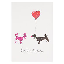 Buy Art Press Two Dogs With Heart Engagement Card Online at johnlewis.com