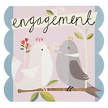 Buy Caroline Gardner Birds Engagement Card Online at johnlewis.com