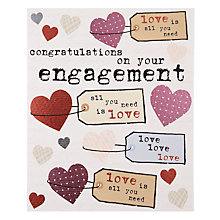 Buy Really Good Congratulations Engagement Card Online at johnlewis.com