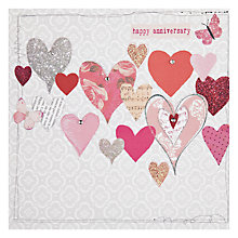 Buy Hammond Gower Hearts Anniversary Card Online at johnlewis.com