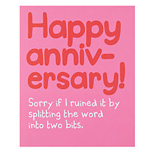 Buy Really Good Happy Anniversary Card Online at johnlewis.com
