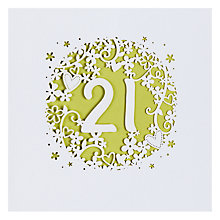 Buy Paperlink 21st Birthday Card Online at johnlewis.com