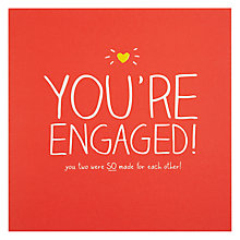 Buy Pigment You're Engaged Engagement Card Online at johnlewis.com