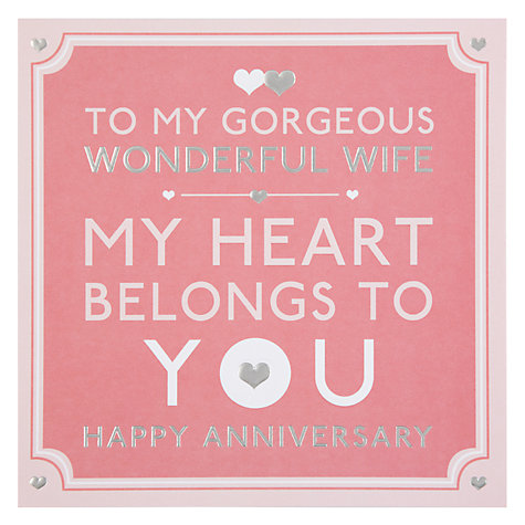 ... Wonderful Wife Happy Anniversary Card Online at johnlewis.com: www.johnlewis.com/hotchpotch-wonderful-wife-happy-anniversary-card...
