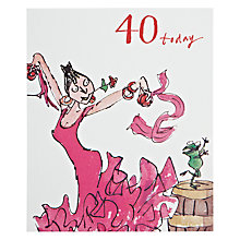 Buy Woodmansterne Dancing Queen 40th Birthday Card Online at johnlewis.com