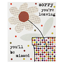 Buy Really Good Sorry You're Leaving Card Online at johnlewis.com