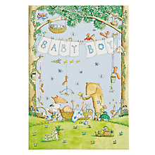 Buy Woodmansterne Animals Boy New Baby Card Online at johnlewis.com