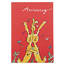 Buy Woodmansterne Rabbits Anniversary Card Online at johnlewis.com