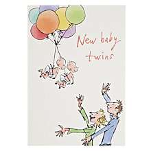 Buy Woodmansterne Baby With Balloon New Baby Card Online at johnlewis.com
