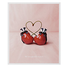 Buy Portfolio We're Perfect Match Greeting Card Online at johnlewis.com
