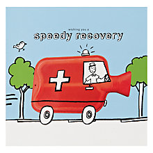 Buy Paperhouse Speed Recovery Get Well Soon Card Online at johnlewis.com