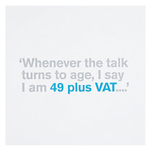 Buy Icon 49 Plus VAT 50th Birthday Card Online at johnlewis.com