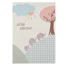 Buy Saffron Elephant Family Congratulations Card Online at johnlewis.com